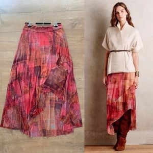 Anthropologie High Low Maxi Skirt by Weston